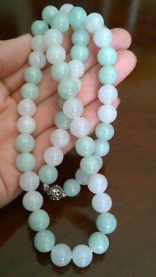 100% Genuine Grade A  Burmese Jade(Jadeite) Beaded  Necklace