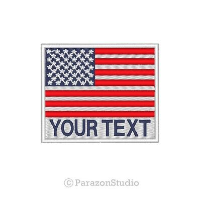 """Custom Embroidered American America US Flag Sew on Patch Patches 2"""" x 2"""" (B)"""