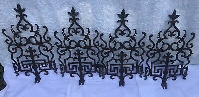 Lot Of 4 Ornate Antique Architectural Cast Iron Roof Cresting Widows Walk