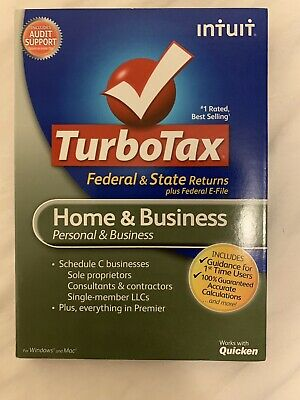 Intuit TurboTax 2012 Deluxe Federal State Plus E-File for PC and Mac