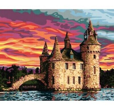 """Castle"" Printed Needlepoint Tapestry Canvas 11877"