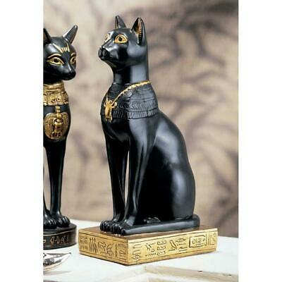 "8"" Ancient Egyptian Cat Feline Goddess Bastet Sculpture Figurine"