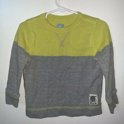Baby Gap Outlet Boys 3 Years Green/Gray Color Block Long Sleeve Top