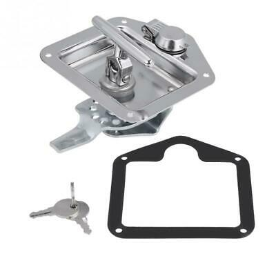 Stainless Steel Folding T-Shape Handle Lock Tool Box Keys Kit For Truck Tra T6R9