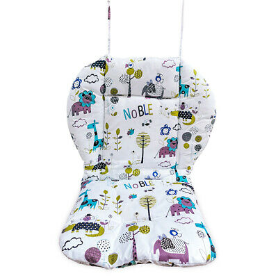 High chair cushion, breathable thick soft stroller cushion jungle animal pattern