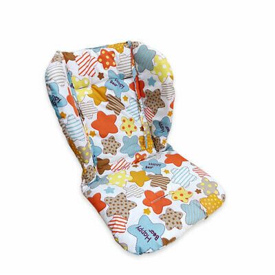 High chair cushion, breathable thick soft stroller cushion color stars pattern