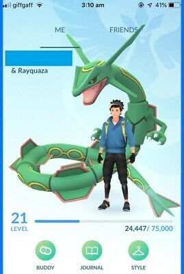 Pokemon Go Account | Lvl 21 | X1 Rayquaza | Starter/Trade Acc | 50K  Stardust
