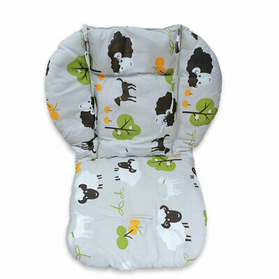 High chair cushion, thick and soft breathable stroller cushion sheep pattern