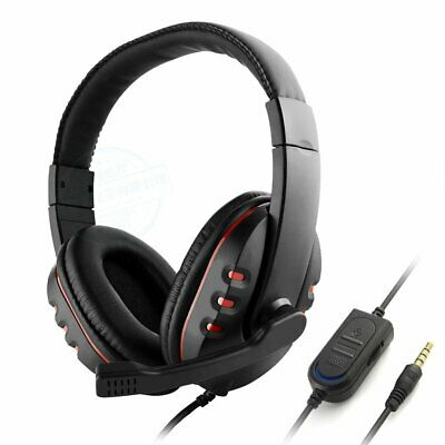 Gaming Headphone Headset w/ Microphone Volume Control for Sony PS4 PlayStation 4