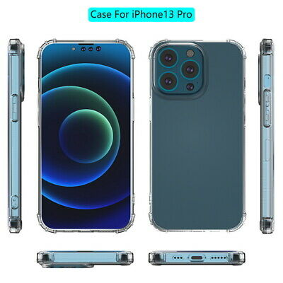 For iPhone 11 Pro Max XS 8 7 Plus 5S SE Shockproof Soft Bumper Clear Case Cover
