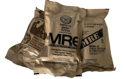 6 X Random Draw MRE US MILITARY Case A/B MEALS READY TO EAT