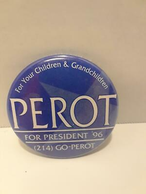 Vintage Ross Perot Political Pinback Button 2""