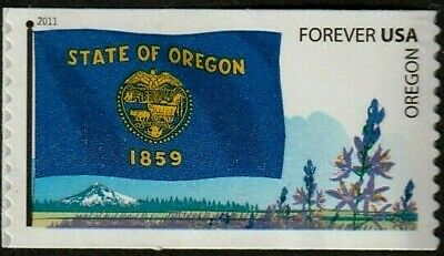 Us 2011 #4316 Oregon State Flag - Flags Of Our Nation Set 5 - Mvf Forever Stamp