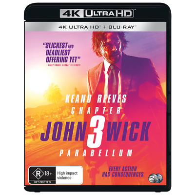 John Wick Chapter 3: Parabellum  - (4K UHD+BR, 2019) NEW & SEALED