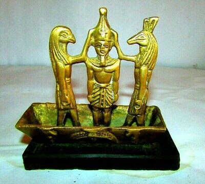 "ِAntique pharaonic  boat of King Ramses and the god ""Thoth"""