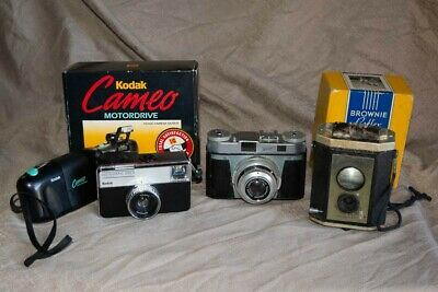 4 vintage film cameras job lot