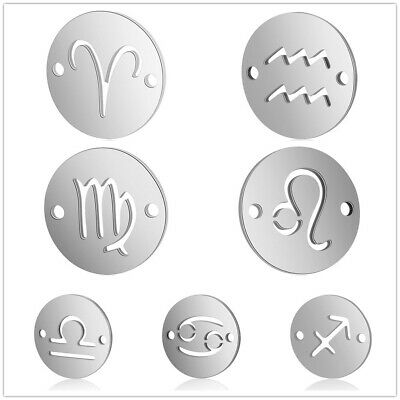 12pcs Stainless Steel Constellation Zodiac Set Pendant Charms DIY Accessories