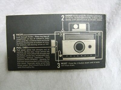 Polaroid 104 camera user booklet, good condition free post