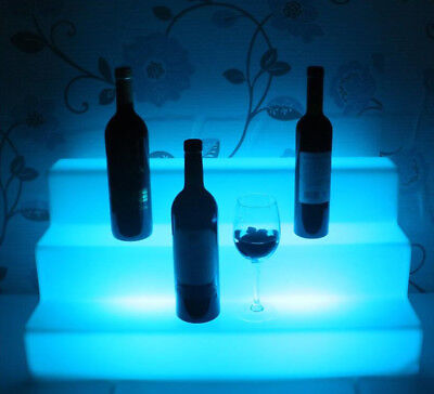 26'' LED BAR SHELF,Three Step,Liquor Bottle Shelves,Bottle Display Shelving rack
