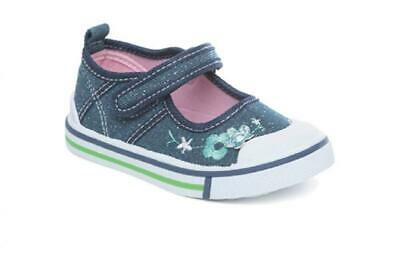 Girls Canvas Pumps Infant Trainers Shoes Child Size 4 5 6 7 8 9 10 11 12 Mary Ja