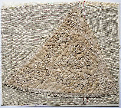 13-15C Antique Textile Fragment -Dyeing and Weaving