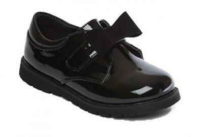 Chatterbox Girls Mary Jane/T Bar Black School Shoes Size 4 5 6 7 8 9 10 11 12 In