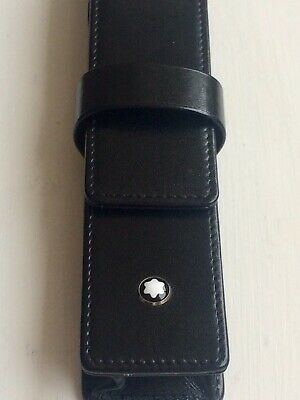 Genuine Mont Blanc Leather Pen Case In Very Condition.
