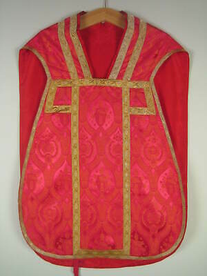 "antikes rotes Messgewand ""Johannes XXIII"" Papst Wappen, Kasel , Casel, Chasuble"