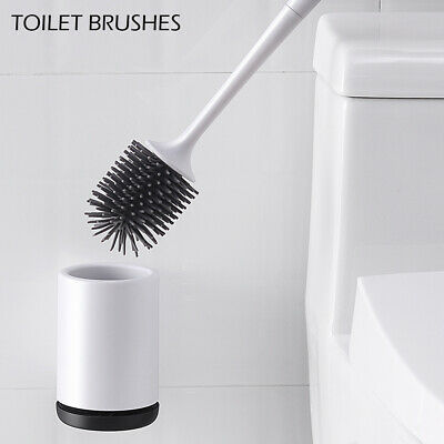 Toilet Brush Silicone Soft Bristle Cleaning Brush Toilet Bathroom Cleaning Set