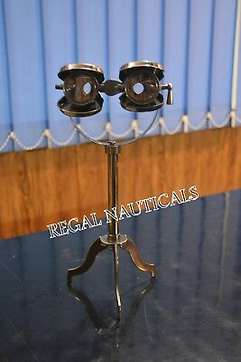 Brass  Antique  Maritime Vintage Gift Nautical Binocular Telescope With Stand