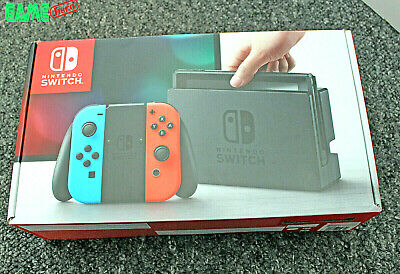 *No Console* Nintendo Switch Replacement Box Packaging Only Neon Red + Blue.