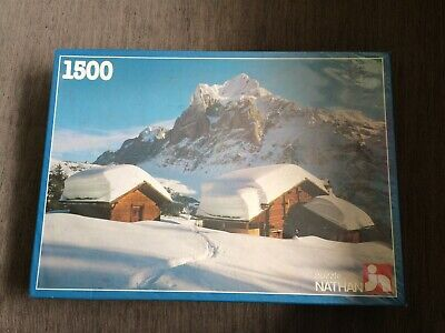 Snow Clad Hamlet 1500 Piece Jigsaw Puzzle NEW SEALED Mountains Jeux Nathan