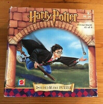 Vintage Harry Potter 56 pc 2 Sided Mini Jigsaw Puzzle Flying Series - Snitch