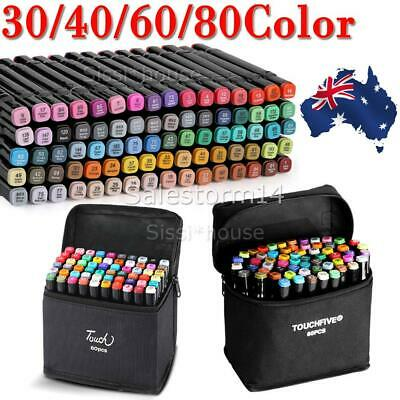 80 Color Set Marker Pen Graphic Art Sketch Twin Point Broad Point Un-Copic Touch