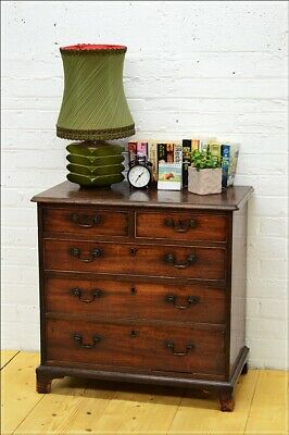 antique chest of drawers late Georgian solid wood UK DELIVERY
