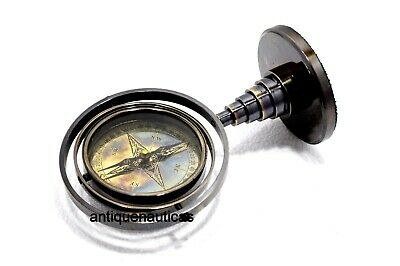 Brass Antique GIMBAL Compass Decorative Maritime Table Top Black Antique Gift