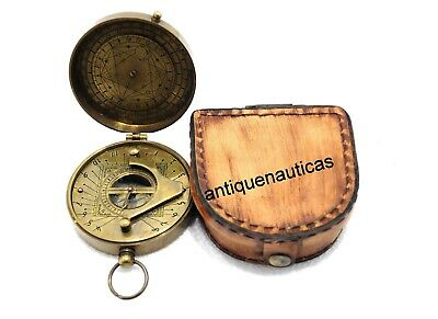 Antique DIRECTIONAL Compass Gilbert With Leather Case Collectible Marine Gift