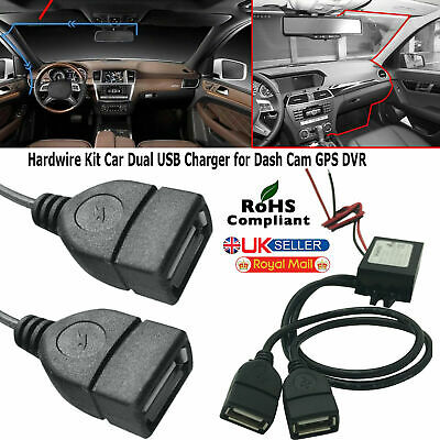 Nextbase Hard Wire Kit Dual Dc Usb For Car Charger Power Dash Dvr Cam Recorder
