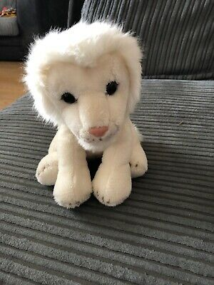 West Midlands Safari Park Small White Lion Cuddly Toy