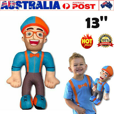 13 inch Blippi Plush Figure Toy Soft Stuffed Doll for Kids Gift AU