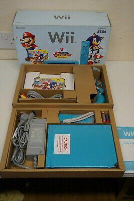 Boxed Nintendo Wii Limited Blue Console Mario & Sonic London 2012 Olympic Games