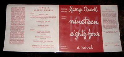 GEORGE ORWELL - NINETEEN EIGHTY-FOUR [RED] - Facsimile Dustjacket Only - NO BOOK