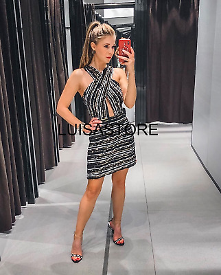 ZARA  SEQUINNED CROSSOVER DRESS One size Ref 6873//182