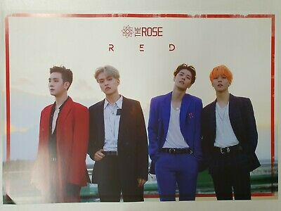 The Rose - Red (3rd Single) Unfolded Official Poster Hard Tube Case