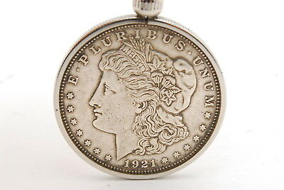 One Dollar E. PLURIBUS UNUM 1921 Morgan USA Silver Coin Key Holder from Tokyo