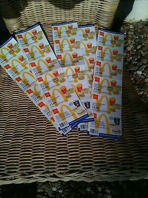 mcdonalds vouchers 5 strip 30 individual dated 15 September 2019