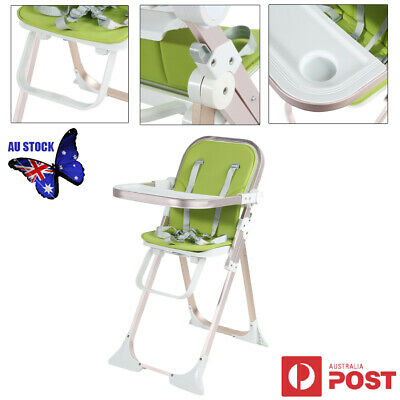 Durable Baby Toddler Children Folding High Chair with Harness Removable Tray