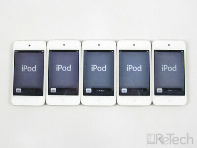 Lot of 5 Apple iPod Touch 4th Gen A1367 EMC 2407 8GB White 2011 MP4 Bluetooth
