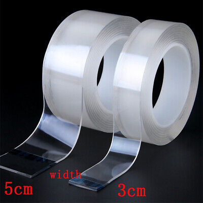 3/5cm Nano Seamless Tape Anti-slip Fixed Tape Double-Side Adhesive Washable Home