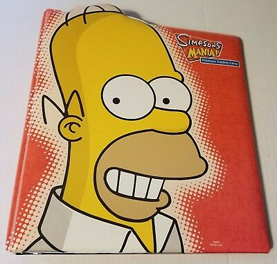 SIMPSONS Mania Official Trading Card Padded 3-ring  Binder by INKWORKS  2001